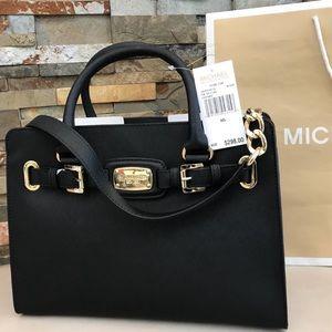 $298 Michael Kors Hamilton LG Satchel MK Handbag